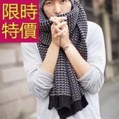 針織圍巾-羊毛必備秋冬加厚禦寒男女圍脖2色61y3[巴黎精品]