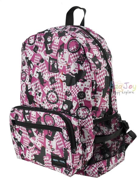 HAPI+TAS 摺疊後背包 - 新版粉色愛麗絲