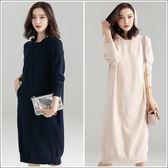 SHINE KOREA 秋冬時尚連帽慵懶風休閒針織連身裙