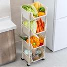 廚房置物架蔬菜收納架落地多層果蔬架子家用神器菜架可行動小推車 ATF 夏季狂歡