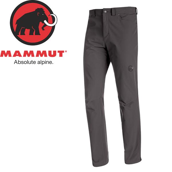 【MAMMUT 男 MA Hiking SO 長褲《石墨灰》】1020-11640/休閒長褲/冬季長褲