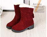 雪地靴女 冬季雪地靴女厚底2019新款加絨加厚平底學生中筒棉鞋東北保暖鞋【免運】