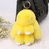 迷你版10cm裝死兔小兔子掛件獺兔毛生日禮物萌兔包包手機吊飾 DN19165『小美日記』