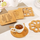 可愛鏤空木質杯墊 碗盤墊 防燙防滑隔熱餐桌墊-大款式【庫奇小舖】