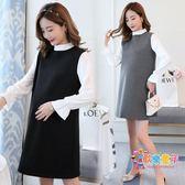 孕婦正裝職業裝洋裝秋季ol職場上班黑色面試工作服冬裝中長款女