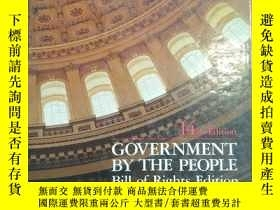 二手書博民逛書店GOVERNMENT罕見BY THE PEOPLE Bill of Rights Edition (14th Ed