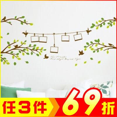 創壁貼-綠色相框樹 AY830-948【AF01013-948】JC雜貨