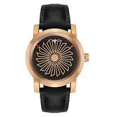 ZINVO 流線渦輪機械Blade系列腕錶-黑X玫瑰金