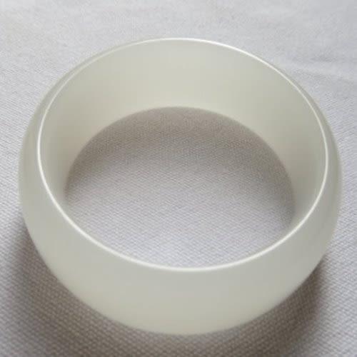 天然白玉手鐲#0201  57mm