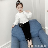 女童長袖T恤秋裝新款韓版兒童泡泡袖打底衫中大童洋氣上衣潮 OO640【VIKI菈菈】