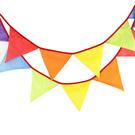 [韓風童品] 點點圖案三角旗掛飾 生日聚會裝飾旗 拍攝道具背景裝飾掛旗    節慶PARTY彩旗掛飾