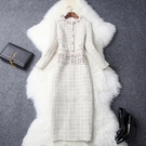 (現貨+預購 RN-girls)-時尚精品小香風超氣質長袖洋裝