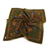 Christian Dior 巴洛克風字母裝飾領帕巾(綠) 989036-5