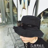 自制男女情侶款水洗做舊可彎曲帽檐時髦遮陽春夏男士漁夫帽花間公主
