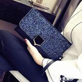 2018新款宴會手抓包名媛信封手包韓版個性時尚百搭氣質手拿包女潮 金曼麗莎