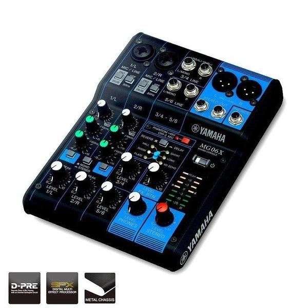☆唐尼樂器︵☆分期免運公司貨 YAMAHA MG06XU 類別旋鈕式 混音器 混音機 MG06X