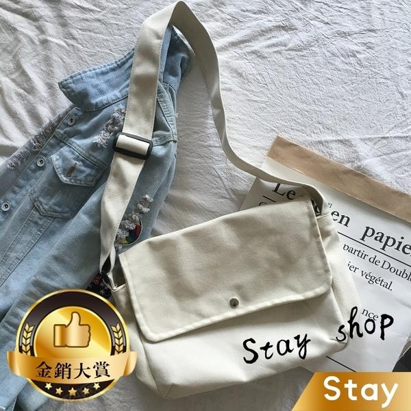 【Stay】休閒簡約文青風肩背包 後背包 側背包 書包 包包【B23】