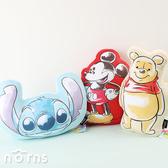 【2D厚抱枕迪士尼水彩風10吋】Norns 正版玩偶 靠枕 娃娃 靠墊 小熊維尼 米奇 史迪奇
