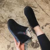 冬季加絨保暖雪地靴女學生短筒棉靴正韓馬丁短靴百搭棉鞋【七夕節鉅惠】