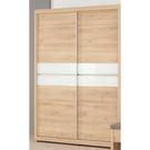【森可家居】漢娜5尺拉門衣櫥 8CM582-1 衣櫃 無印北歐風 木紋質感