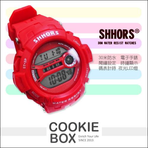 SHHORS 運動 電子錶 30米 防水手錶 類 baby G shock 數位錶 女錶 對錶 男錶 冷光 *餅乾盒子*
