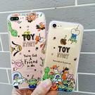【紅荳屋】玩具總動員巴斯光年 胡迪iphone6s/6plus透明卡通保護套手機殼
