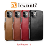 快速出貨 ICARER 復古系列 iPhone 11 磁扣側掀 手工真皮皮套 6.1吋