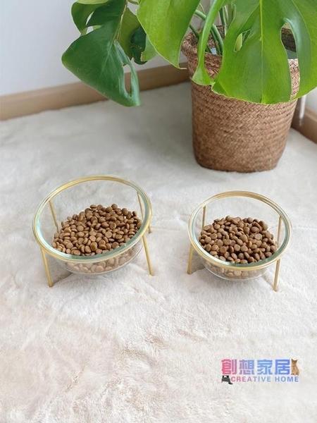 寵物碗架 貓碗寵物碗實木貓碗架保護頸椎斜口貓飯碗寵物鐵架水碗狗狗碗【快速出貨】