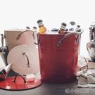 冰桶 雙層帶蓋冰桶鍍鋅鐵皮收納桶酒吧家用創意啤酒桶 洛小仙女鞋YJT