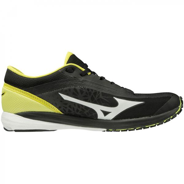 MIZUNO WAVE DUEL [U1GD196009] 男鞋 運動 慢跑 馬拉松 休閒 輕量 避震 耐磨 黑黃