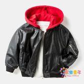 童裝男童冬季寶寶連帽皮衣洋氣外套兒童保暖上衣2018新款小童夾克