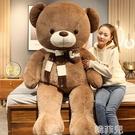 毛絨抱枕 大熊泰迪熊貓毛絨玩具公仔布娃娃抱抱熊大號睡覺抱枕玩偶女孩可愛 韓菲兒