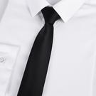 領帶 男士懶人黑色領帶男拉鏈式 正裝免打結商務5cm韓版女易拉得職業潮【快速出貨八折下殺】