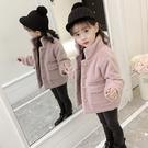 女童洋氣毛呢外套短款夾棉加厚秋冬裝中大童兒童時尚呢子大衣潮