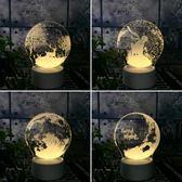 3D臺燈LED燈插電臥室床頭燈創意夢幻小王子小夜燈嬰兒寶寶喂奶燈