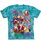 【摩達客】(預購)(大尺碼3XL) 美國進口The Mountain  海葵與小丑魚 純棉環保短袖T恤(10416045070a)
