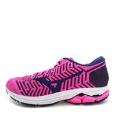 Mizuno Waveknit R2 [J1GD182911] 女鞋 運動 慢跑 避震 耐磨 舒適 美津濃 粉紅 藍