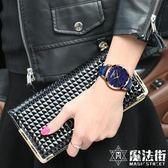 手錶女士時尚潮流真皮帶防水石英錶超薄 魔法街