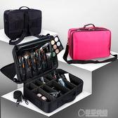 專業隔板收納大號化妝箱包化妝師跟妝手提美容工具包紋繡工具箱   草莓妞妞