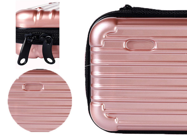 旅行簡約手提式 化妝包 收納包 行李箱 5款可選【庫奇小舖】