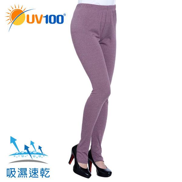 UV100 防曬 抗UV-舒柔雪花踩腳內搭褲-女