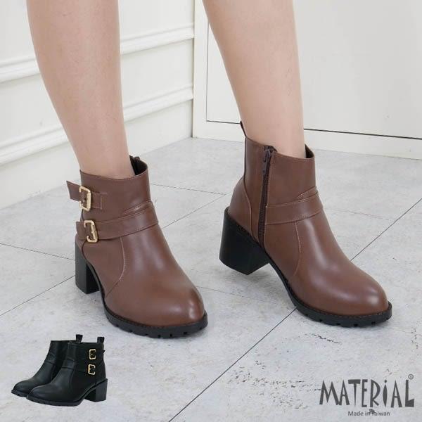 短靴 質感側雙扣造型短靴 MA女鞋 T5605