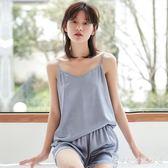 睡裙睡衣女春秋冰絲薄款日式吊帶兩件套韓版甜美學生家居服套裝女士夏 科炫數位