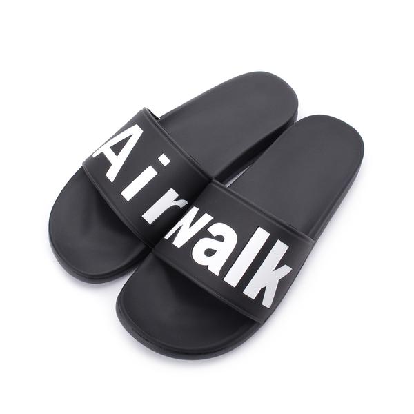 AIRWALK 大字LOGO套式拖鞋 黑 A825220320 男鞋 鞋全家福