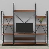 組 - 特力屋萊特 組合式電視架 黑深木紋色 164x40x158cm