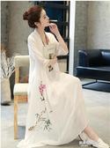 茶人服女夏棉麻連身裙文藝復古禪意中國風茶道古風太極茶藝師服裝 凱斯盾