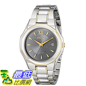 [美國直購] Seiko Men s 男士手錶 SNE166 Classic Solar-Powered Two-Tone Stainless Steel Watch with Link Bracelet