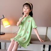 女童洋裝連身裙夏裝2020新款洋氣大童兒童裝夏季polo裙親子裝公主裙子 LR23901『麗人雅苑』