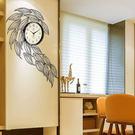 大魚鐘表掛鐘客廳創意現代簡約長方形藝術裝飾餐廳時鐘歐式石英鐘  SSJJG【慶新年全館免運】