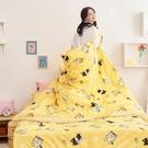 床包被套組 / 雙人【逗柴貓黃】含兩件枕套 高密度磨毛布 戀家小舖台灣製 柴犬 貓